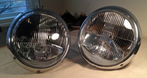 Freshly restored H1 headlights